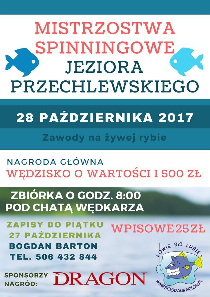 Zawody Spinningowe 28.10.2017